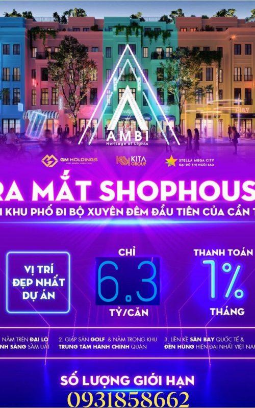 Giá bán shophouse Stella Mega City